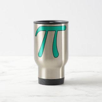 Blue Aqua Pink Hot Baby Light Pi 3.14 symbol Math 15 Oz Stainless Steel Travel Mug