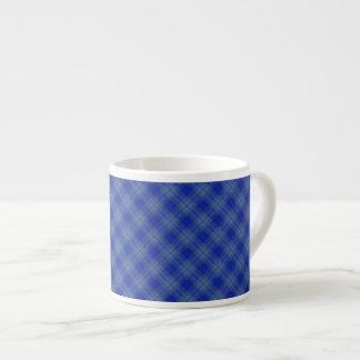Blue & Aqua Squares Espresso Mug 6 Oz Ceramic Espresso Cup