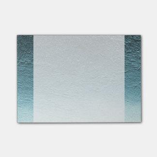 Blue aqua teal gradient aluminium grunge post-it® notes