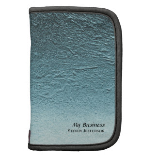Blue aqua teal gradient aluminum concrete grunge planner