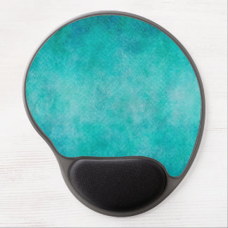 Blue Aqua Teal Watercolor Paper Colorful Texture Gel Mouse Pad