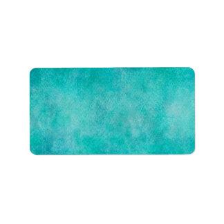 Blue Aqua Teal Watercolor Paper Colorful Texture Label