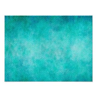 Blue Aqua Teal Watercolor Paper Colorful Texture Photo Print