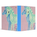 Blue & Aqua Zebras Vinyl Binder