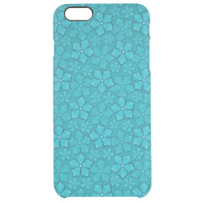 Blue Aquamarine flower petals Clear iPhone 6 Plus Case
