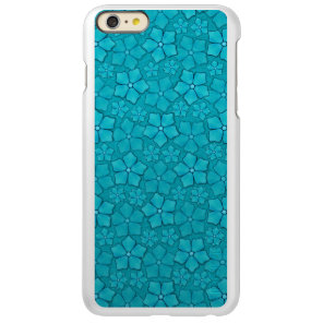 Blue Aquamarine Flower Petals Pattern Incipio Feather Shine iPhone 6 Plus Case