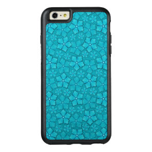 Blue Aquamarine Flower Petals Pattern OtterBox iPhone 6/6s Plus Case
