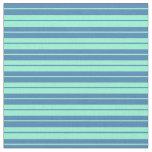 [ Thumbnail: Blue & Aquamarine Pattern Fabric ]