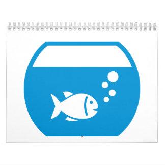 Blue aquarium calendars