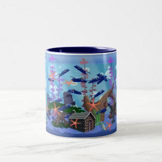 Blue Aquarium Mug