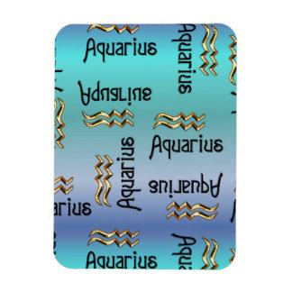 Blue Aquarius, Sign of the Zodiac. Magnet