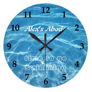 Blue Aquatic Fresh Pool Water Swimming Clear Cool Wall Clock