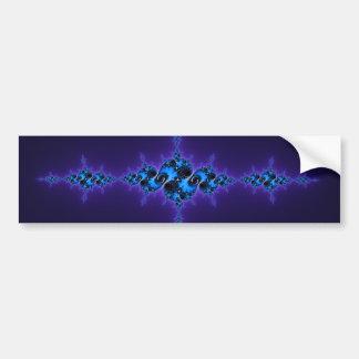 Blue Arabesque on Deep Purple - sparkly fractal Bumper Stickers