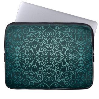 Blue Arabic ornamental pattern Laptop Computer Sleeves
