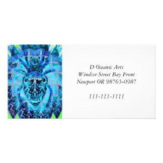 Blue Arachnid Card