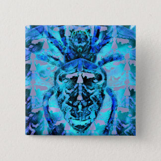 Blue Arachnids Pinback Button
