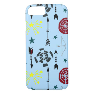 Blue Archery Bows Arrows and Targets iPhone 8/7 Case