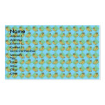Blue argyle banana pattern Double-Sided standard business cards (Pack of 100)