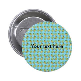 Blue argyle banana pattern buttons