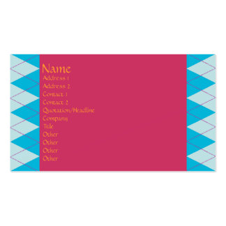 Blue Argyle Double-Sided Standard Business Cards (Pack Of 100)