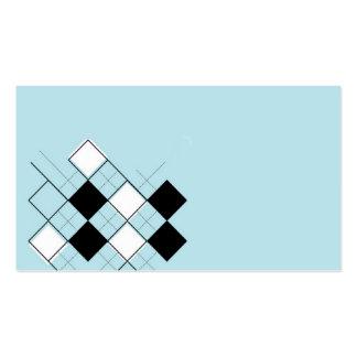 blue argyle business card template