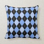 Blue Argyle Pattern American MoJo Pillows