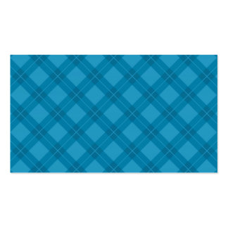 Blue Argyle Pattern Double-Sided Standard Business Cards (Pack Of 100)
