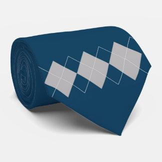 blue argyle pattern tie
