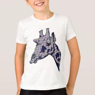 Blue Argyle Patterned Giraffe Head T-Shirt