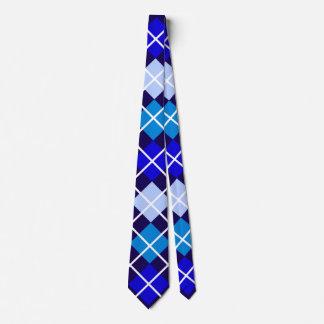 Blue Argyle Tie