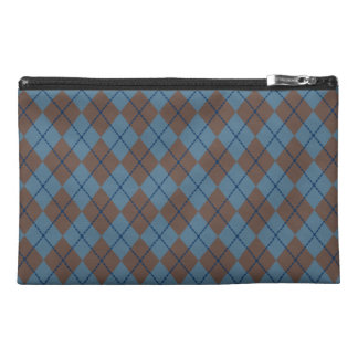 Blue Argyle Travel Bag