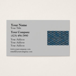 Blue Armor Geometric Pattern Business Card