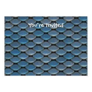 Blue Armor Geometric Pattern Card