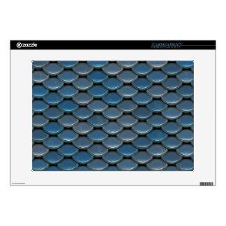 Blue Armor Geometric Pattern Laptop Skins