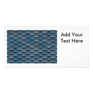 Blue Armor Geometric Pattern Picture Card