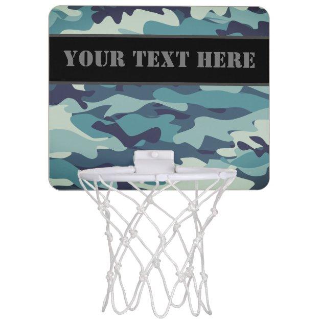 Image of: Blue Army Camo Camouflage Wall Decor Mini Basketball Hoop Zazzle Com