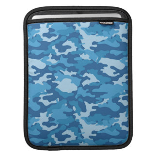 Blue Army Military Camo Camouflage Pattern Texture Sleeve For iPads