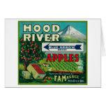 Blue Arrow Apple Crate LabelHood River, OR