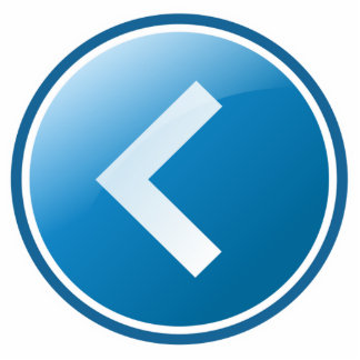 Blue Arrow Button - Left