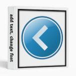 Blue Arrow Button - Left Binder