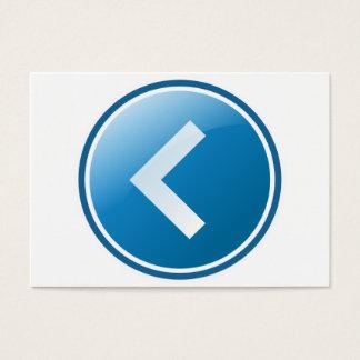 Blue Arrow Button - Left Business Card