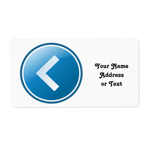 Blue Arrow Button - Left Custom Shipping Label