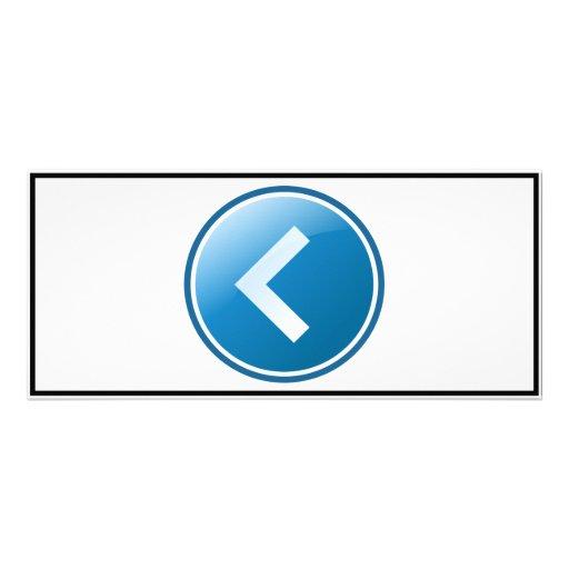 Blue Arrow Button - Left Customized Rack Card