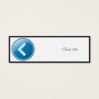 Blue Arrow Button - Left Mini Business Card