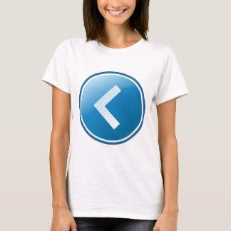 Blue Arrow Button - Left T-Shirt