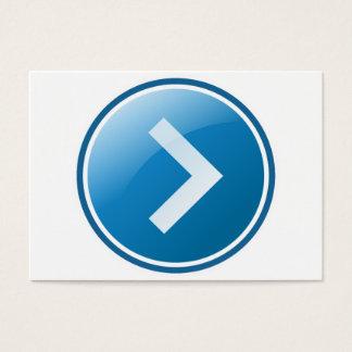 Blue Arrow Button - Right Business Card