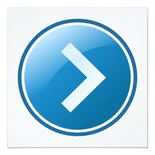 Blue Arrow Button - Right Card