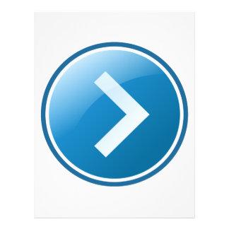 Blue Arrow Button - Right Flyer