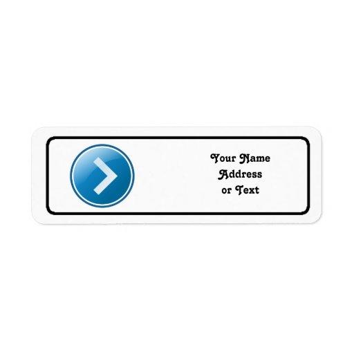 Blue Arrow Button - Right Custom Return Address Label