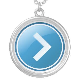 Blue Arrow Button - Right Pendant